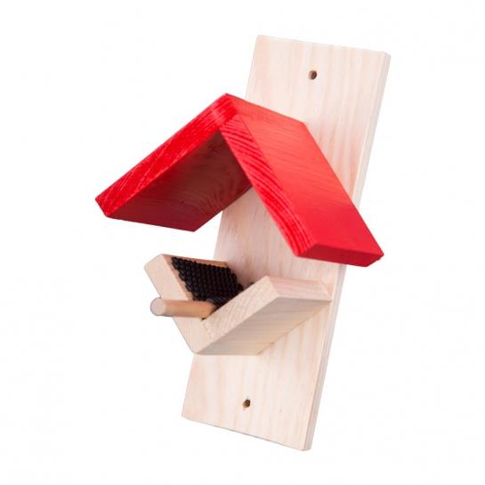 Erdnussbutter-Futterhaus rot