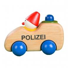 Polizeiwichtel Holzauto mit Hupe