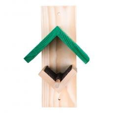 Erdnussbutter-Futterhaus dunkelgrün