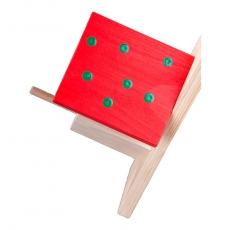 Erdnussbutter-Futterhaus rot/dunkelgrün