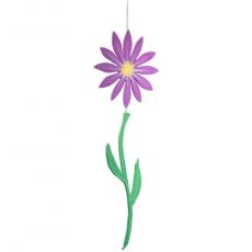 Sommerblume am Band lila / gelb