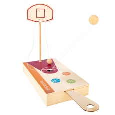 Basketball-Spiel in Holzbox