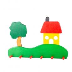 Garderobe Haus mit Baum